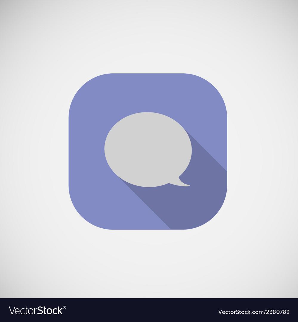Speech dialog flat icon vector | Price: 1 Credit (USD $1)