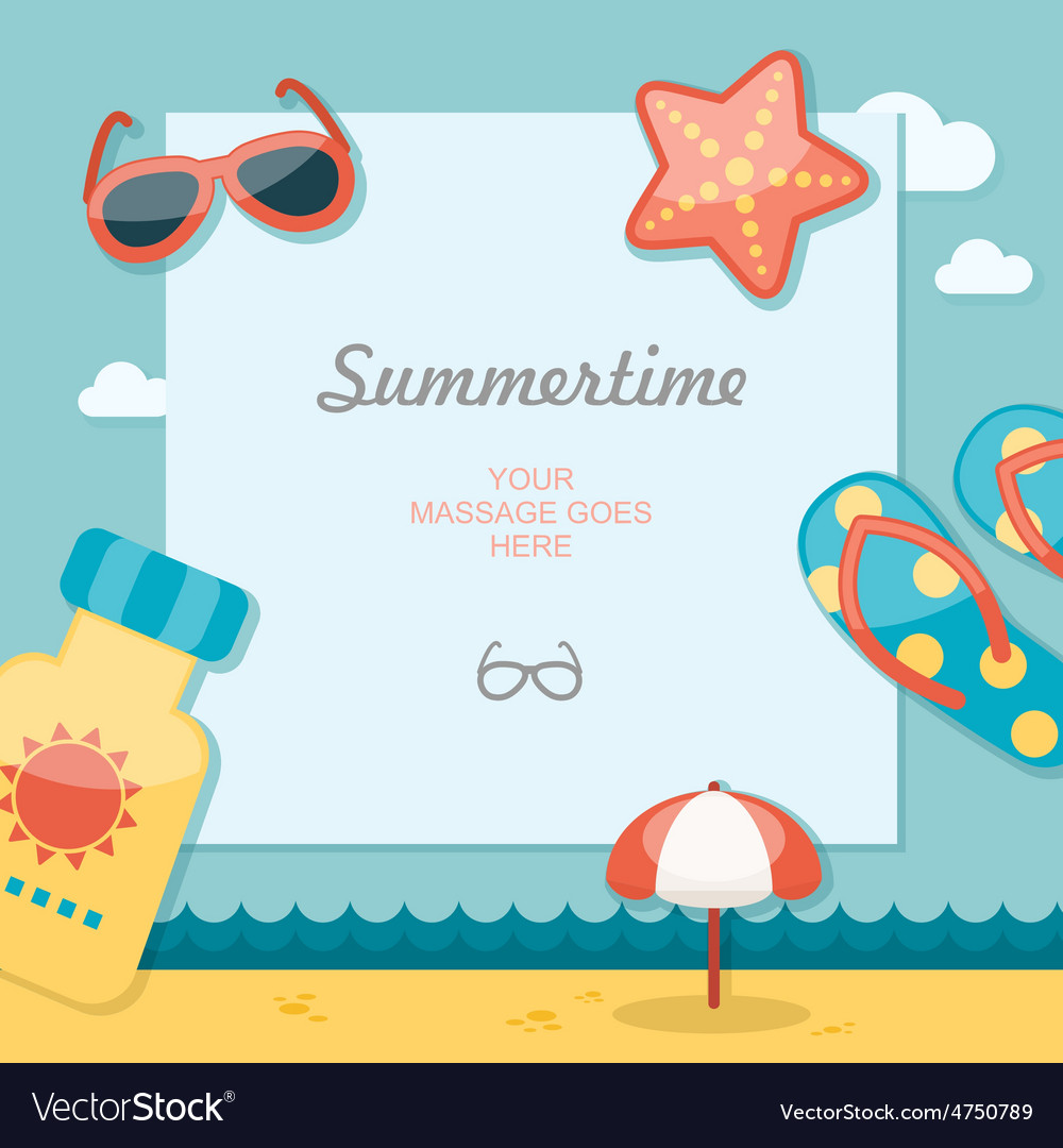 Summertime traveling template vector | Price: 1 Credit (USD $1)