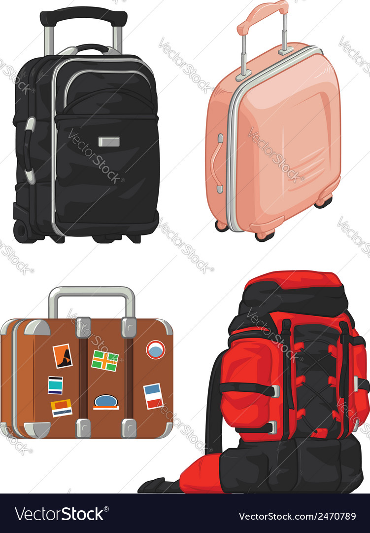Travel suitcase and mountain bag vector | Price: 1 Credit (USD $1)