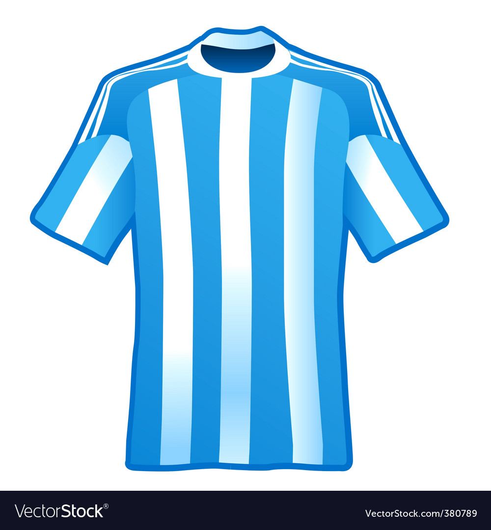 T-shirt of soccer of argentina vector | Price: 1 Credit (USD $1)