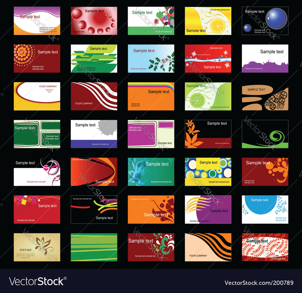 Various business cards vector | Price: 1 Credit (USD $1)