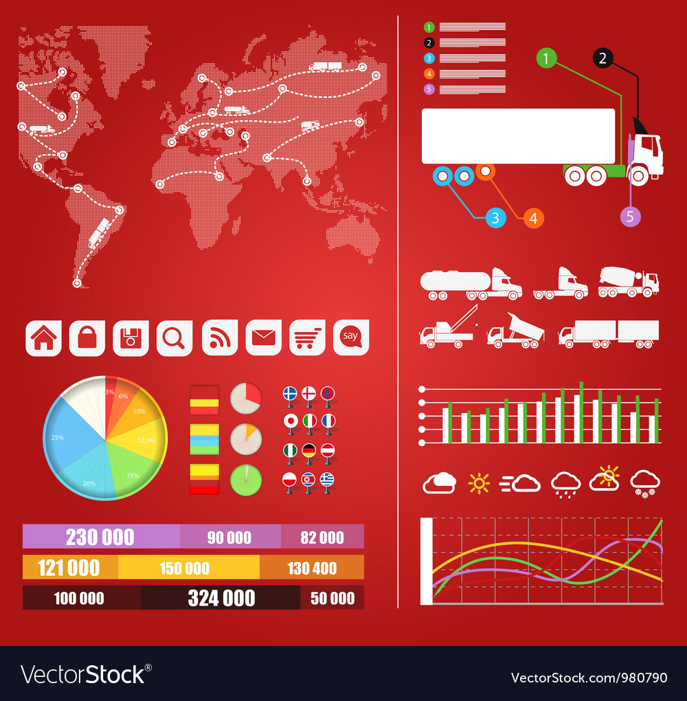 Cargo infographics vector | Price: 1 Credit (USD $1)