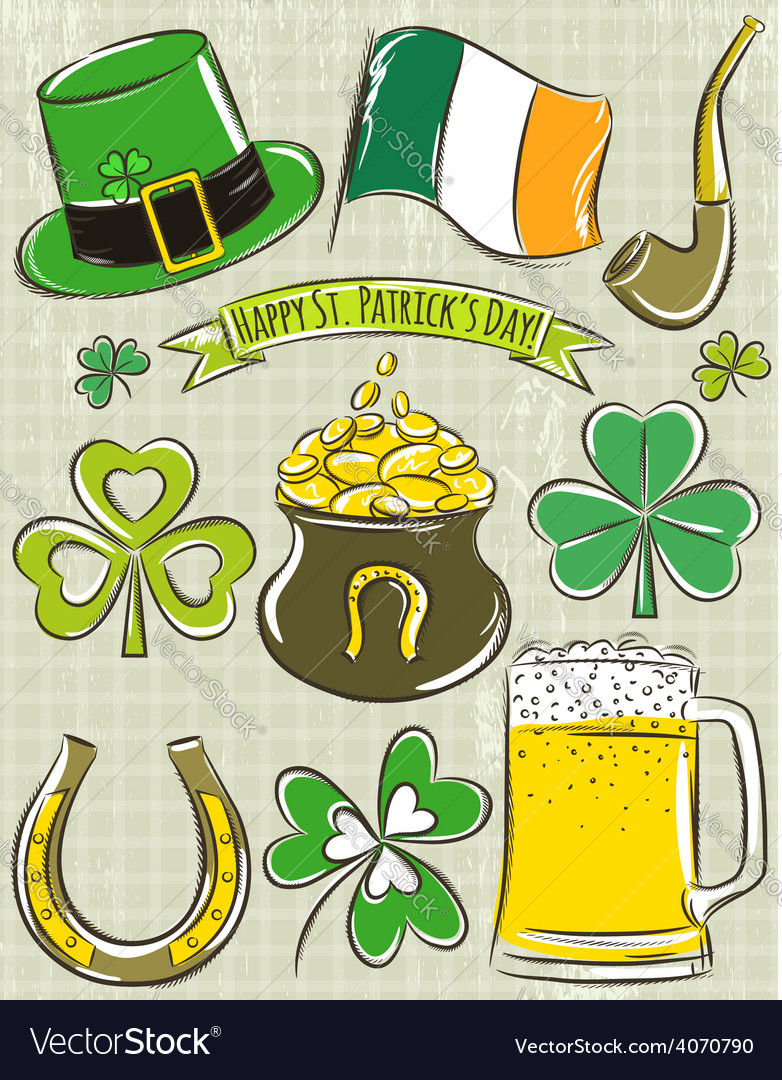 Design elements for st patricks day vector | Price: 1 Credit (USD $1)