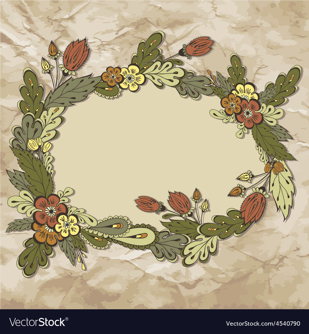 Floralframe01 vector | Price: 1 Credit (USD $1)
