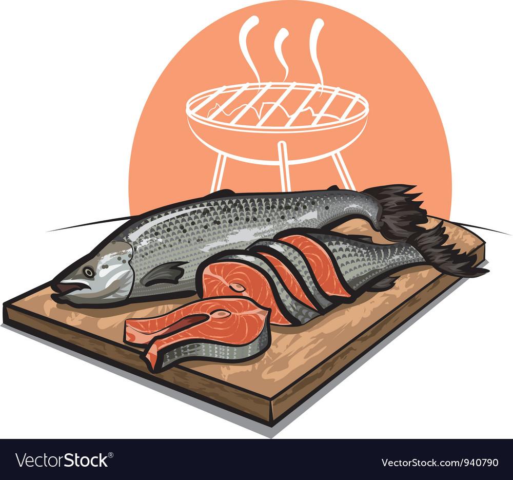Fresh salmon vector   Price: 3 Credit (USD $3)