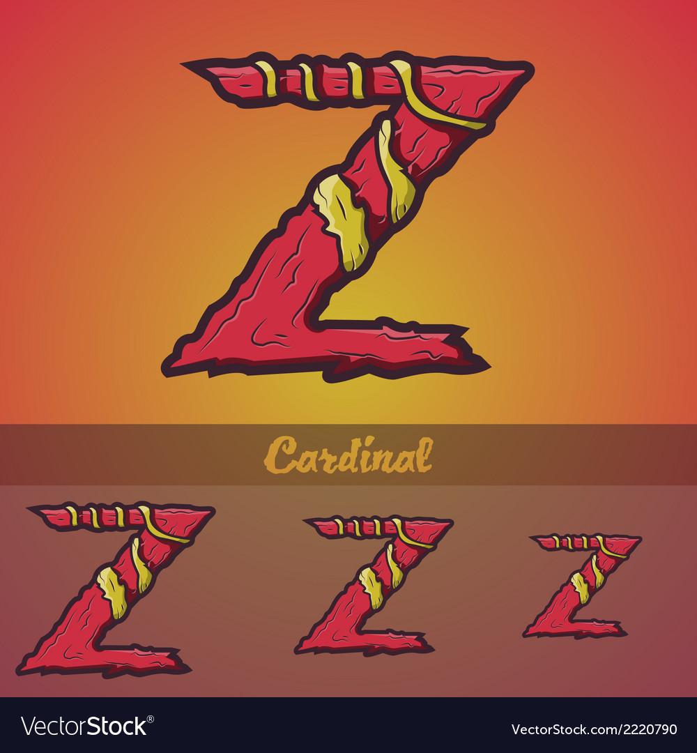Halloween decorative alphabet - z letter vector   Price: 1 Credit (USD $1)