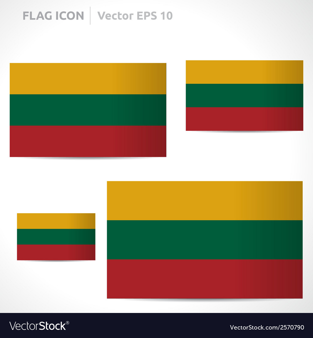Lithuania flag template vector | Price: 1 Credit (USD $1)