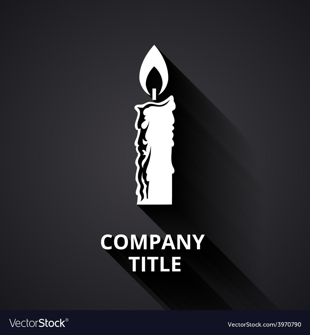 Modern candle logo vector | Price: 1 Credit (USD $1)