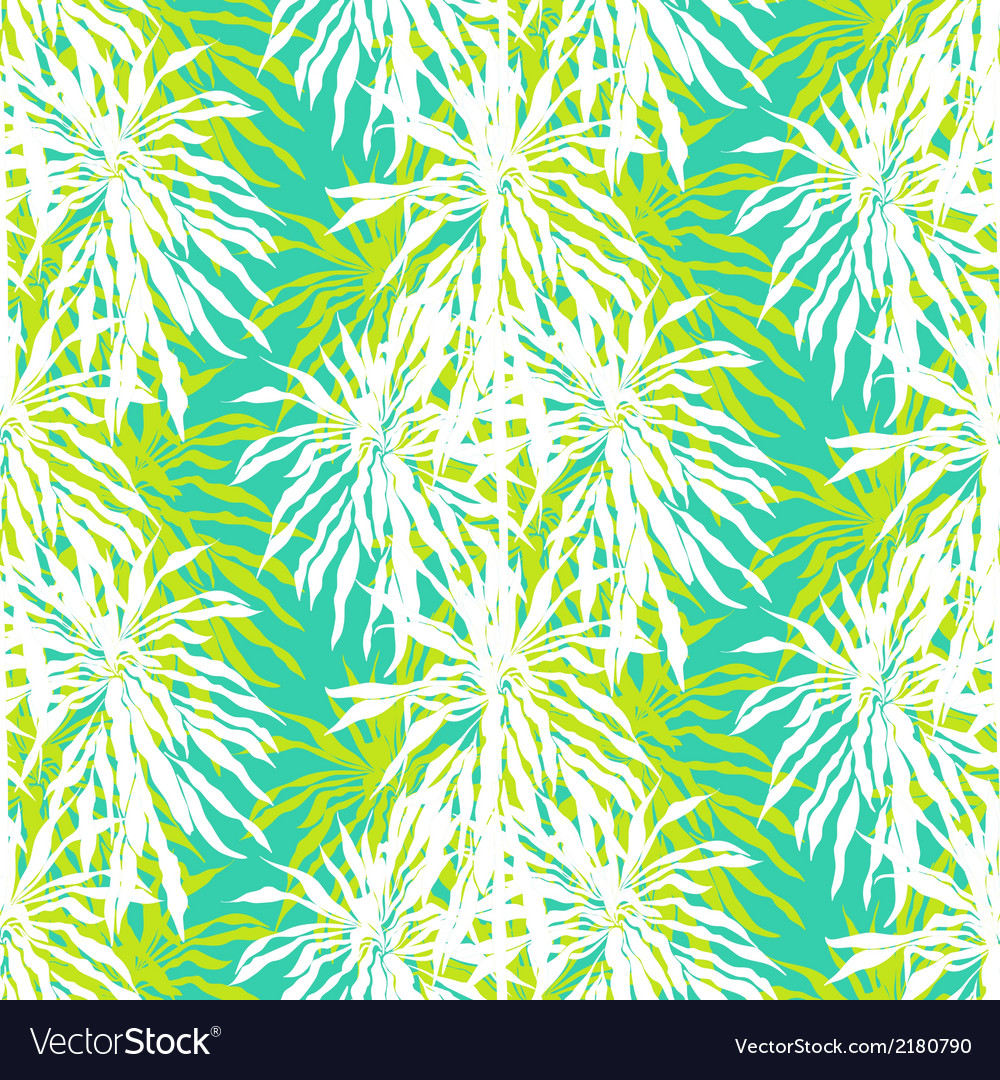 Seamless pattern with tropical palm leaves vector | Price: 1 Credit (USD $1)