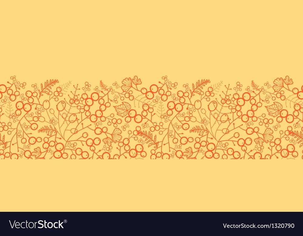 Sweet berries horizontal seamless pattern vector | Price: 1 Credit (USD $1)