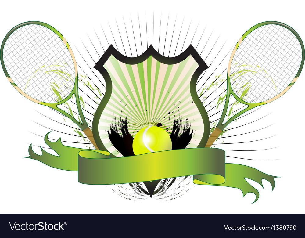 Tennis shield vector | Price: 1 Credit (USD $1)