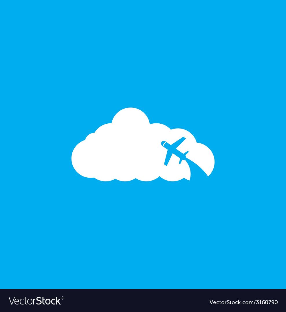 Travel the world plane icon vector | Price: 1 Credit (USD $1)