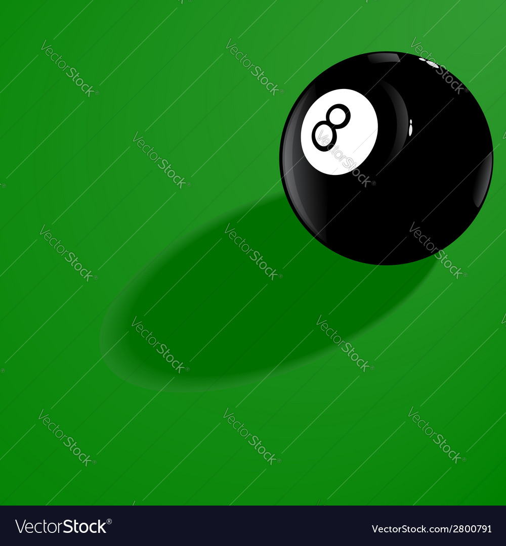 Billiard ball number eight vector | Price: 1 Credit (USD $1)