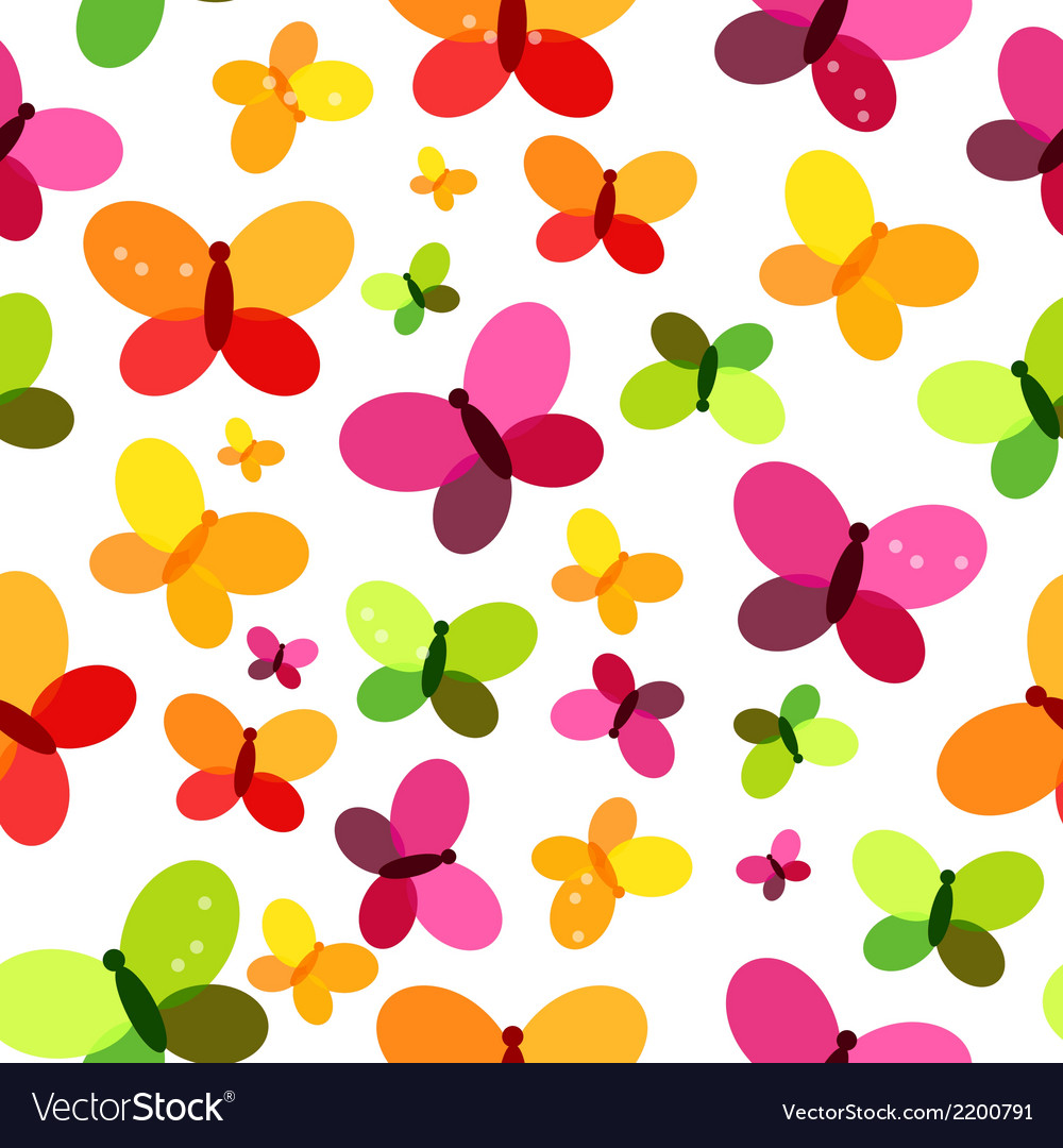 Butterfly seamless pattern background vector | Price: 1 Credit (USD $1)
