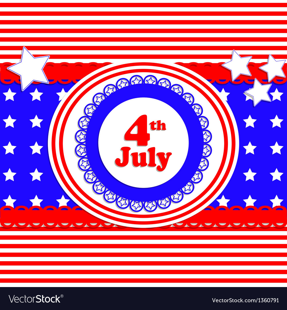 Independence day card in scrapbook style vector | Price: 1 Credit (USD $1)