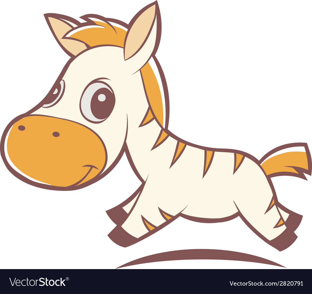 Little zebra vector | Price: 1 Credit (USD $1)