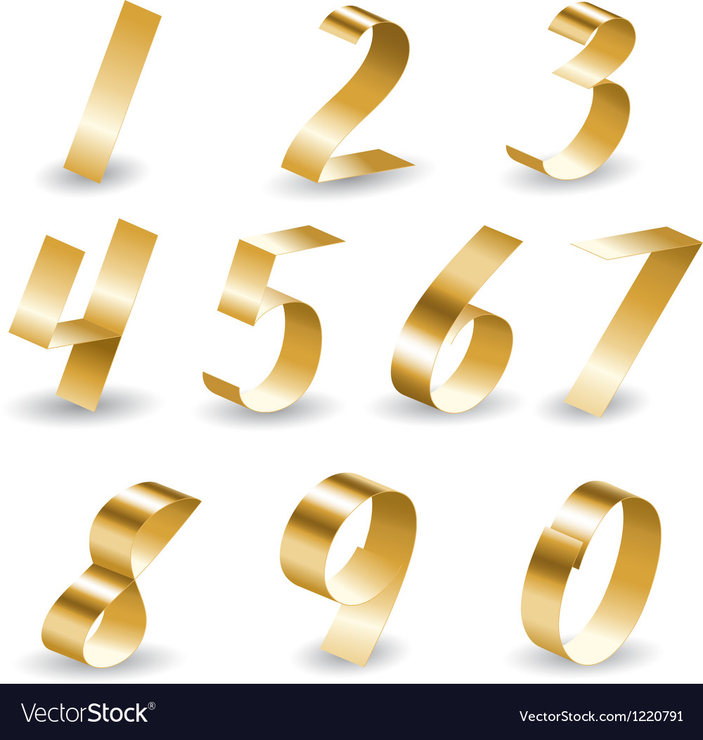 Ribbon number set vector | Price: 1 Credit (USD $1)