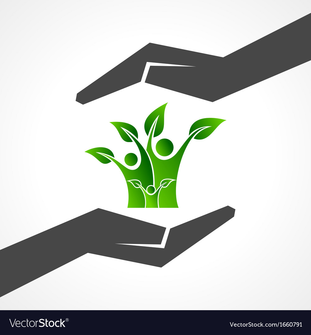 Save eco family concept vector | Price: 1 Credit (USD $1)