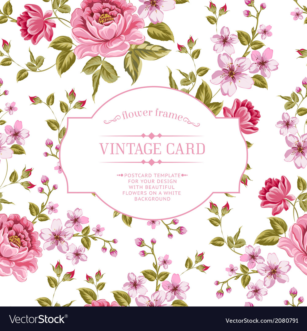 Spring flowers bouquet for vintage card vector | Price: 1 Credit (USD $1)
