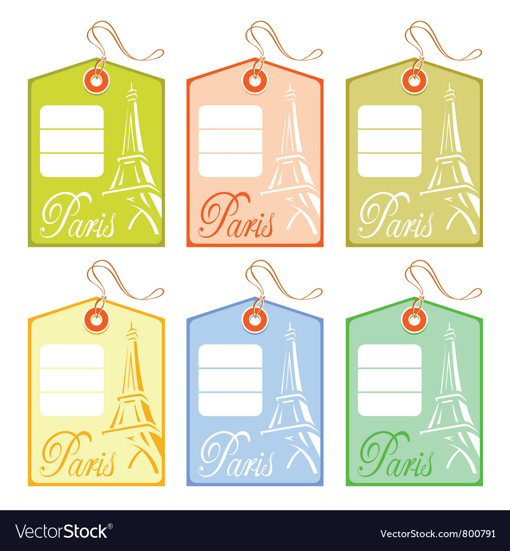 String tag for paris vector | Price: 1 Credit (USD $1)