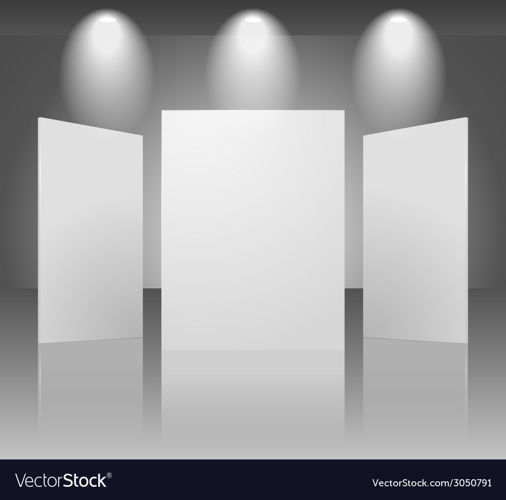 Three dimensional blank template of exhibition vector | Price: 1 Credit (USD $1)