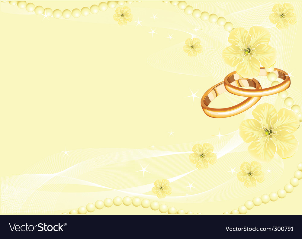 Wedding rings on yellow vector | Price: 1 Credit (USD $1)