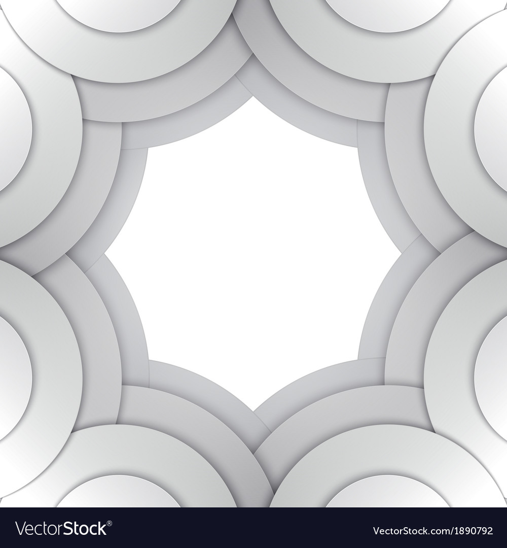 Abstract grey paper circles background vector   Price: 1 Credit (USD $1)