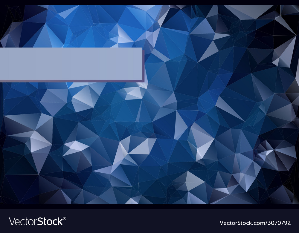 Abstract triangular blue background with polygonal vector | Price: 1 Credit (USD $1)