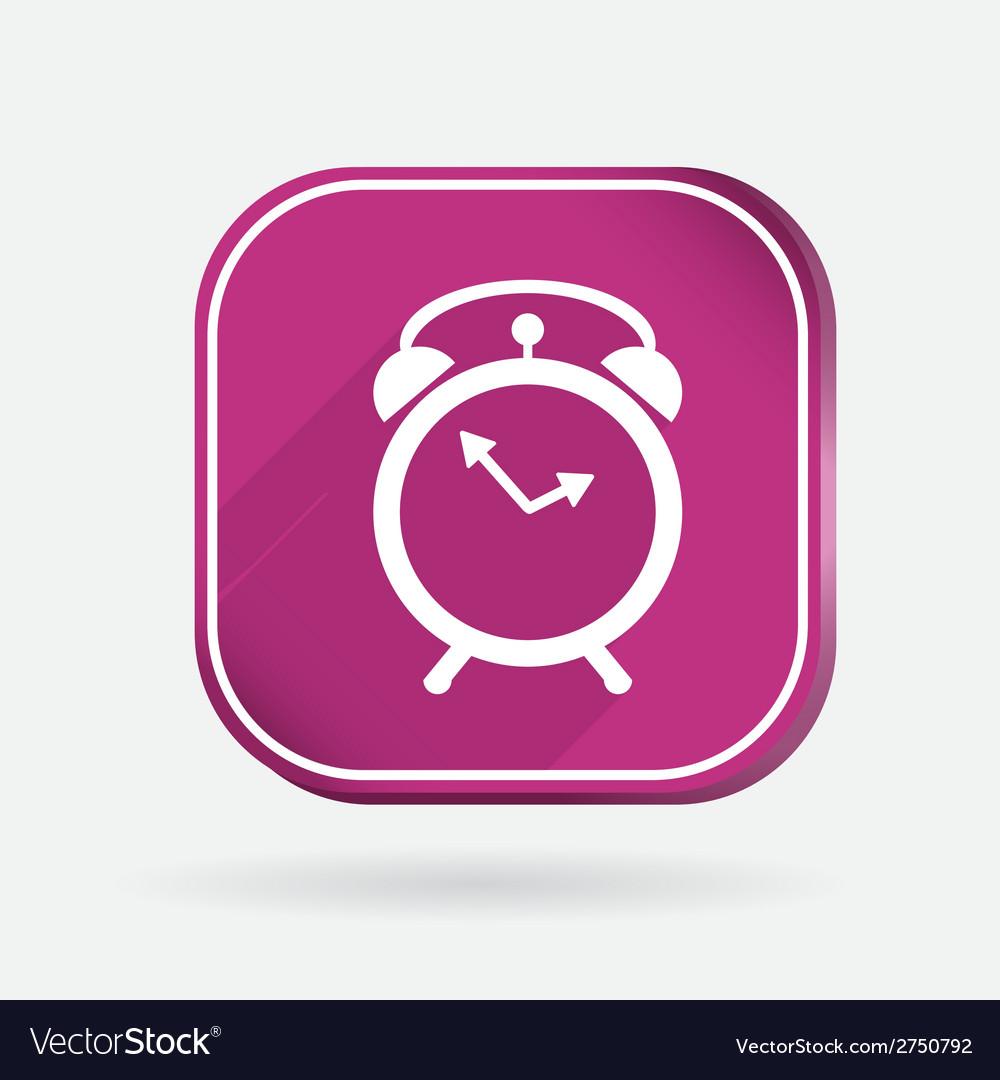 Alarm clock color square icon vector   Price: 1 Credit (USD $1)