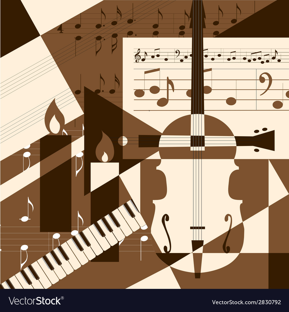 Collage with musical instruments vector | Price: 1 Credit (USD $1)