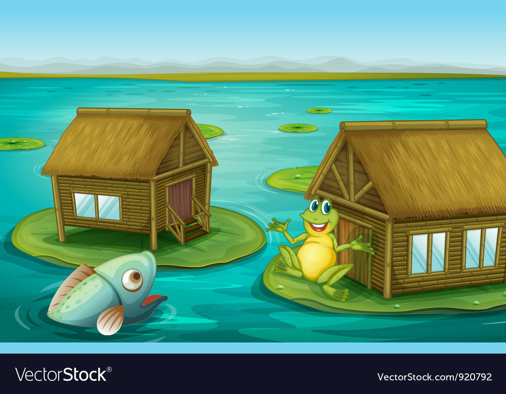Frog cabin vector | Price: 1 Credit (USD $1)