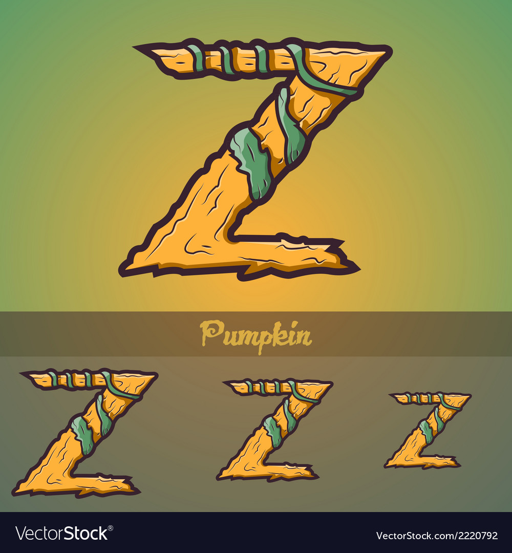 Halloween decorative alphabet - z letter vector | Price: 1 Credit (USD $1)