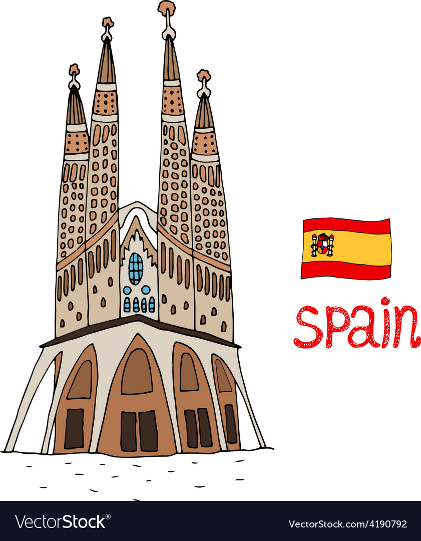 La sagrada familia vector | Price: 1 Credit (USD $1)