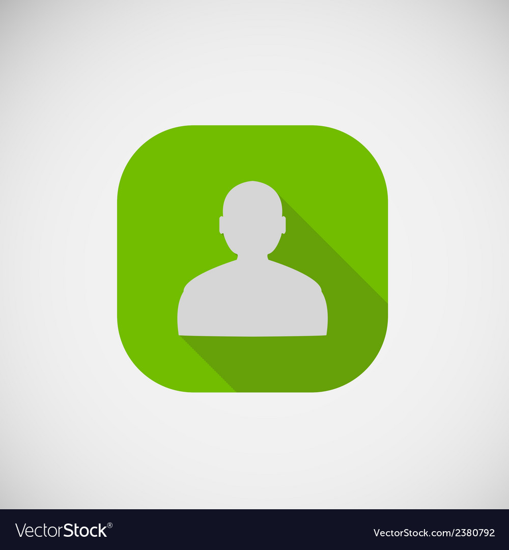 People flat square icon vector | Price: 1 Credit (USD $1)