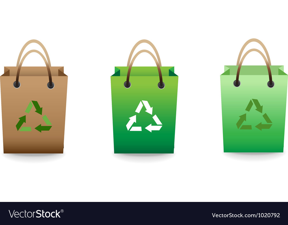 Recyclable bag vector | Price: 1 Credit (USD $1)