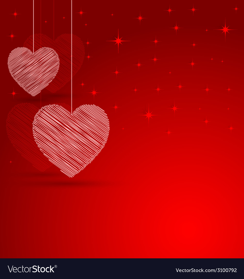 Romantic heart with lights effect background vector | Price: 1 Credit (USD $1)