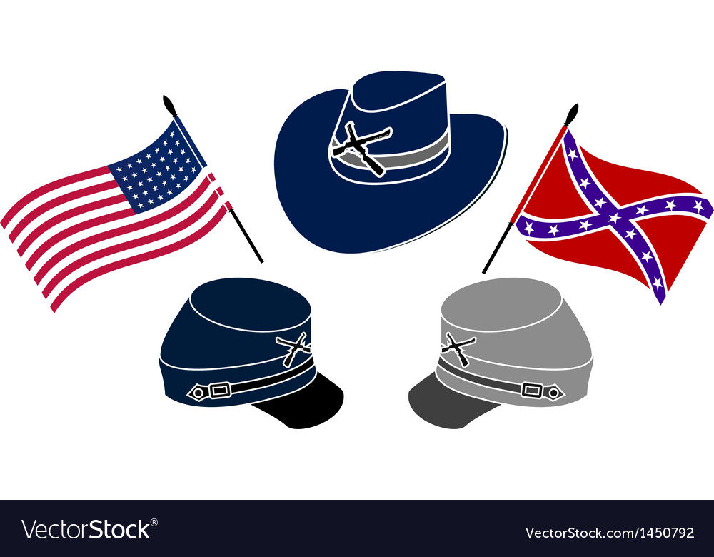 Symbol of american civil war vector | Price: 1 Credit (USD $1)
