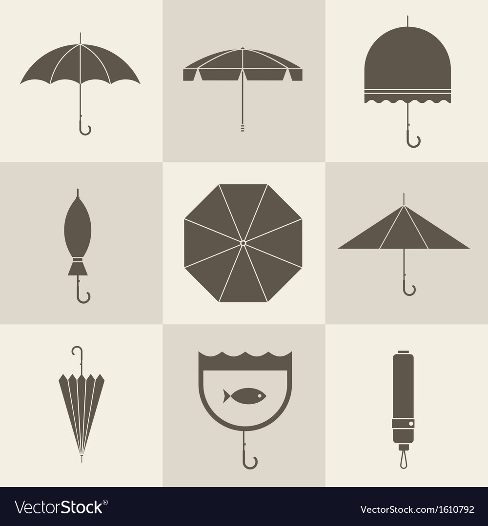 Umbrella icons vector | Price: 1 Credit (USD $1)