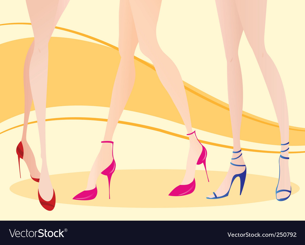 Woman leg vector | Price: 1 Credit (USD $1)