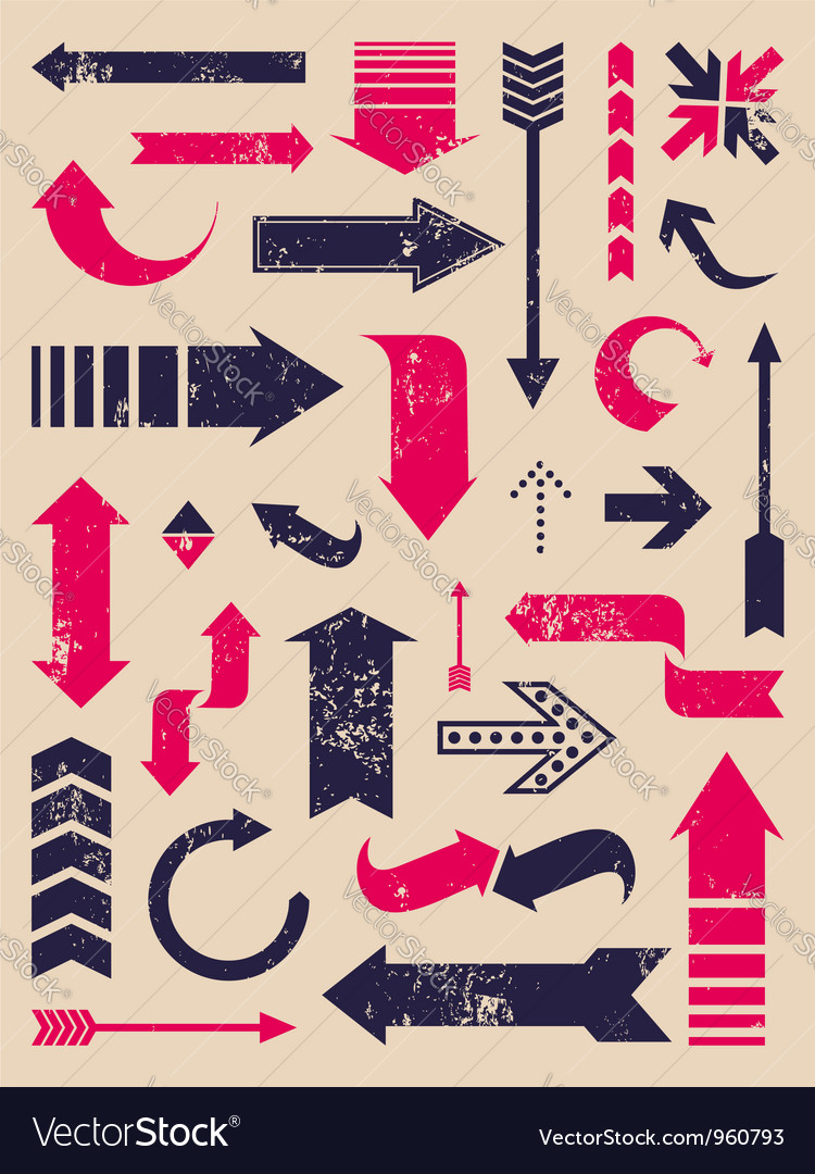 Arrows collection vector | Price: 1 Credit (USD $1)