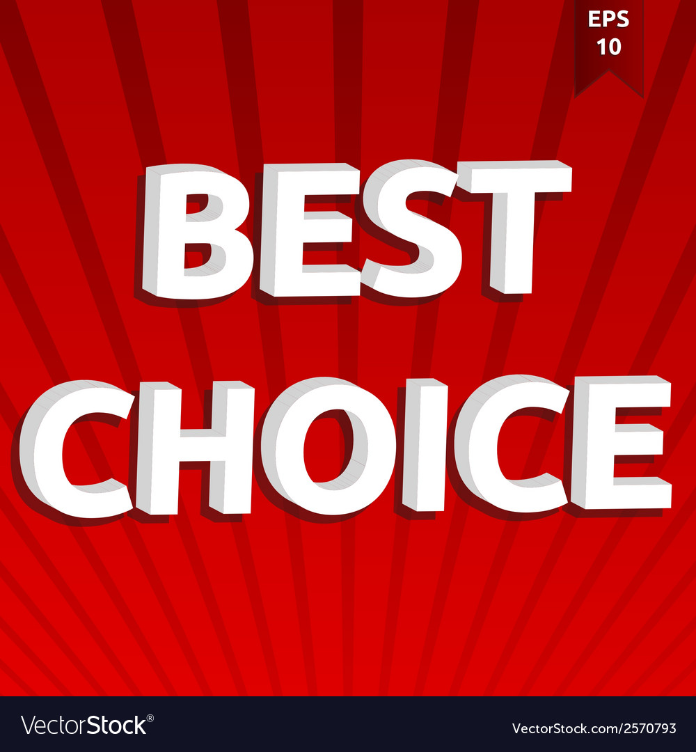 Best choice template vector | Price: 1 Credit (USD $1)