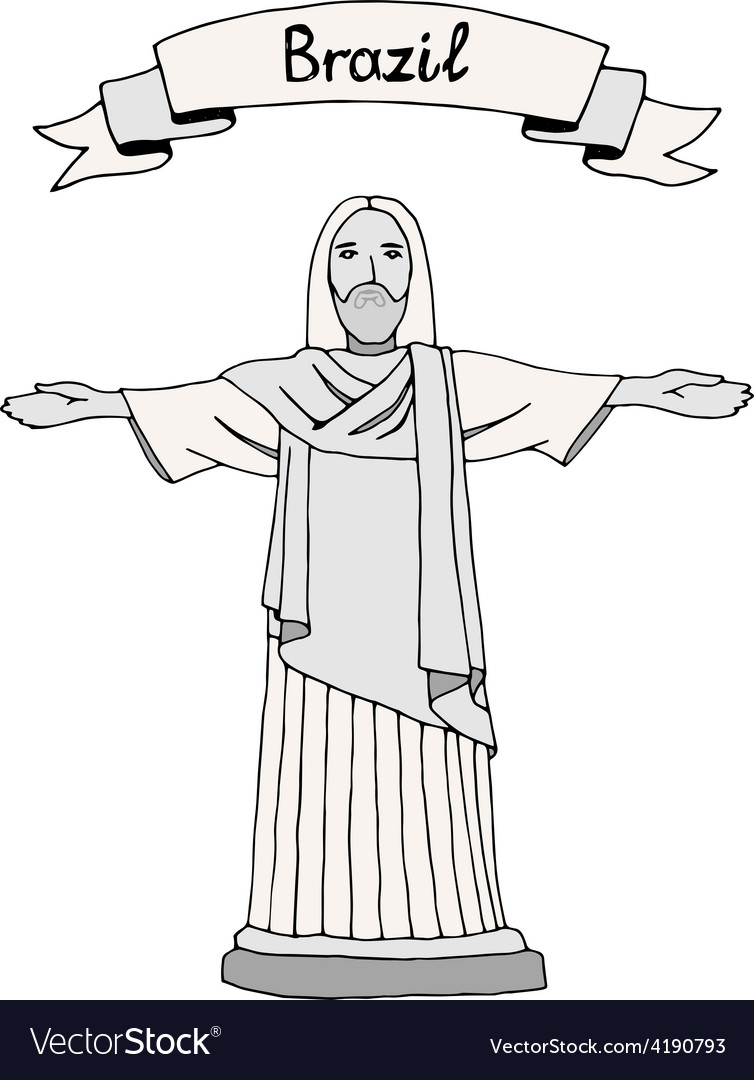 Christ the reedemer vector | Price: 1 Credit (USD $1)