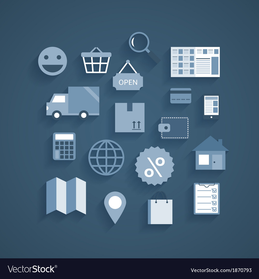 Collection of online shopping pictograms vector | Price: 1 Credit (USD $1)