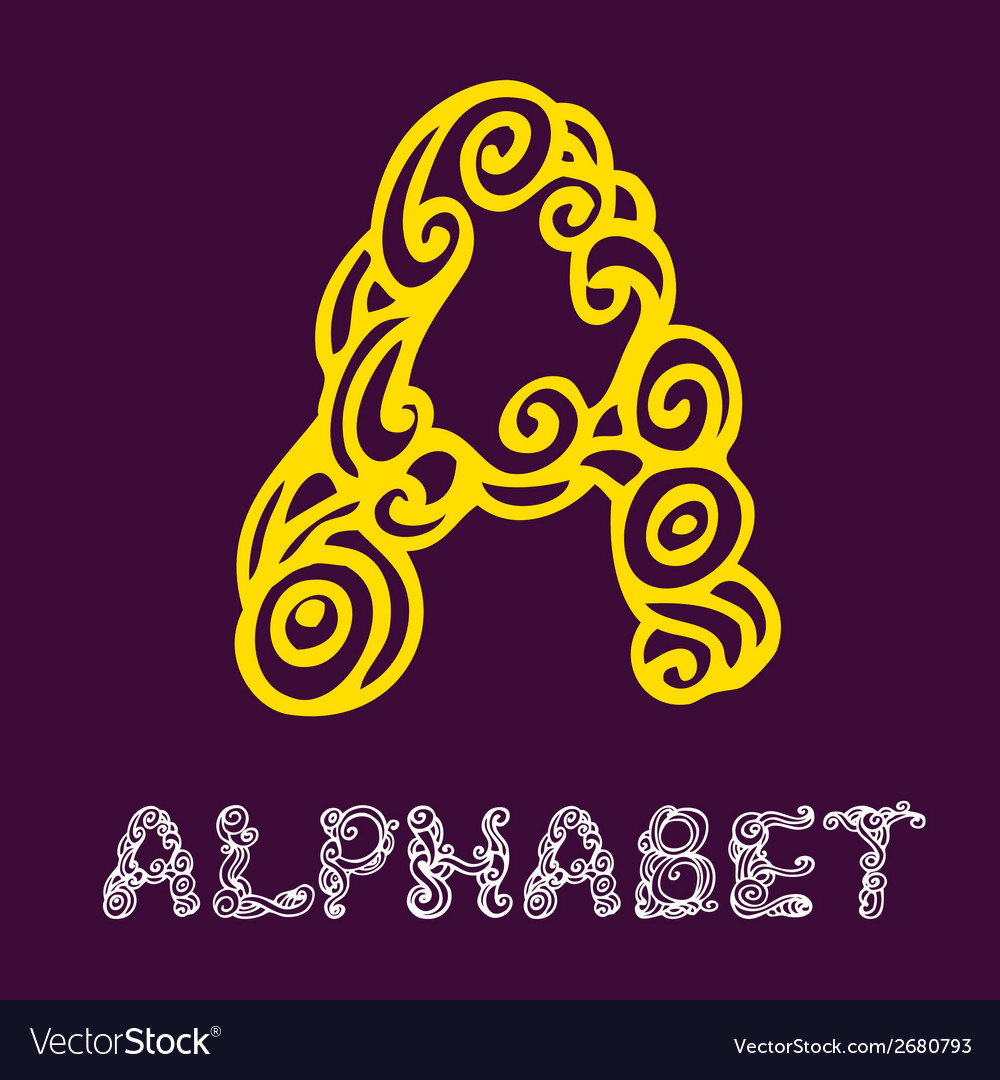 Doodle hand drawn sketch alphabet letter a vector | Price: 1 Credit (USD $1)