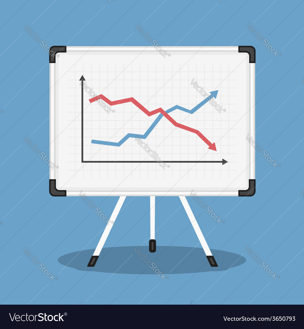 Graph on whiteboard vector | Price: 1 Credit (USD $1)