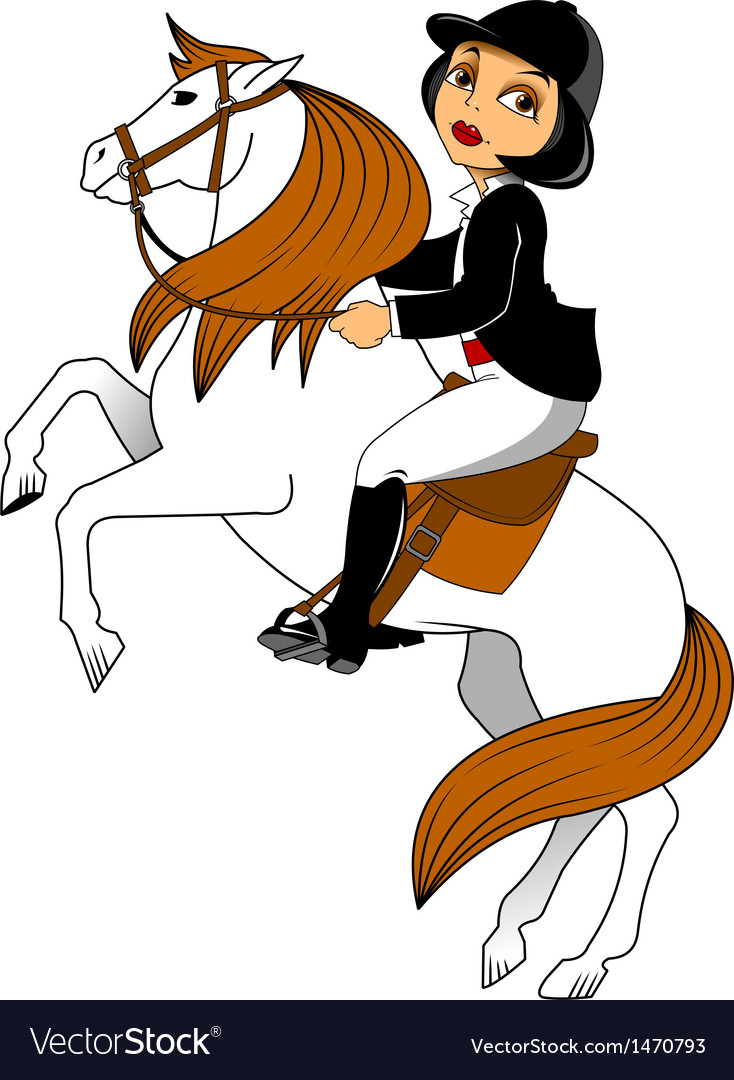 Horse riding vector | Price: 1 Credit (USD $1)
