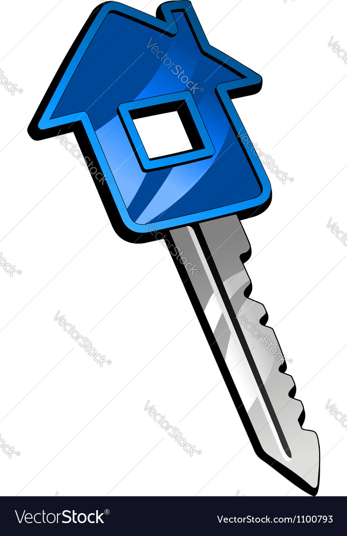 Key with house vector | Price: 1 Credit (USD $1)