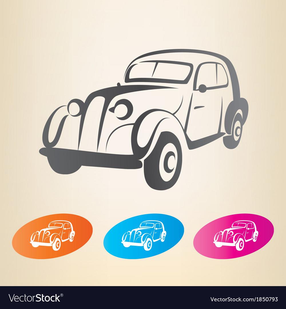 Old retro car symbol vector | Price: 1 Credit (USD $1)