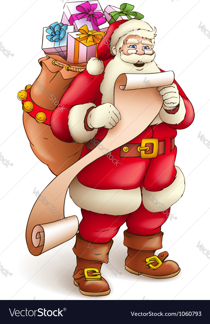 Santa claus with full sack vector | Price: 3 Credit (USD $3)