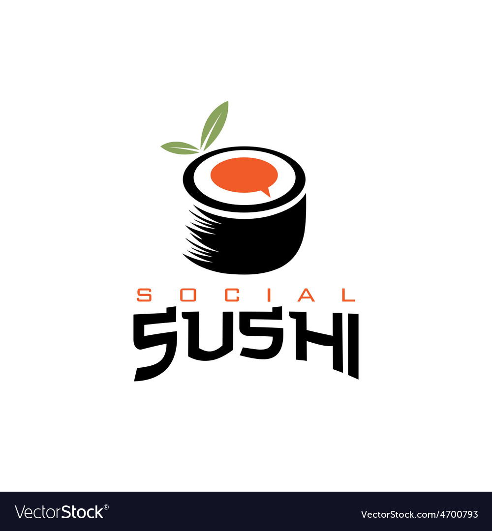 Social sushi concept vector | Price: 1 Credit (USD $1)